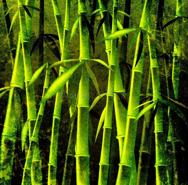 Arbres en bambou illustration stock