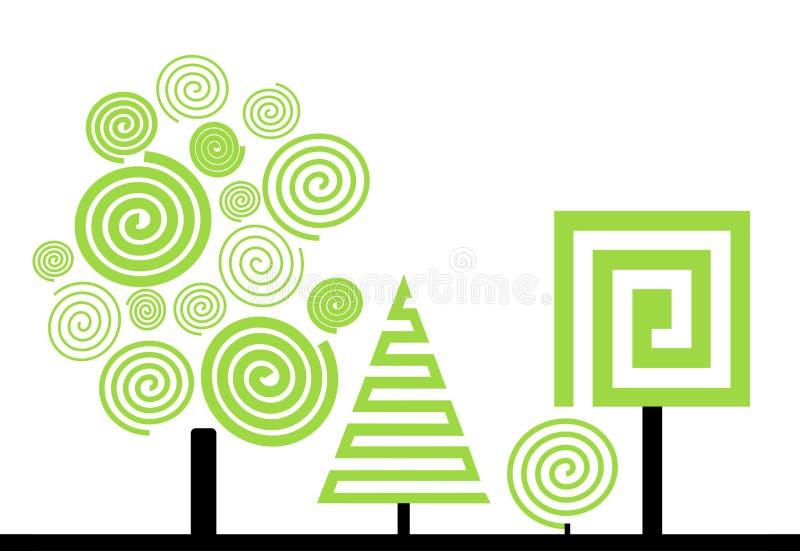 Arbres et buisson illustration stock