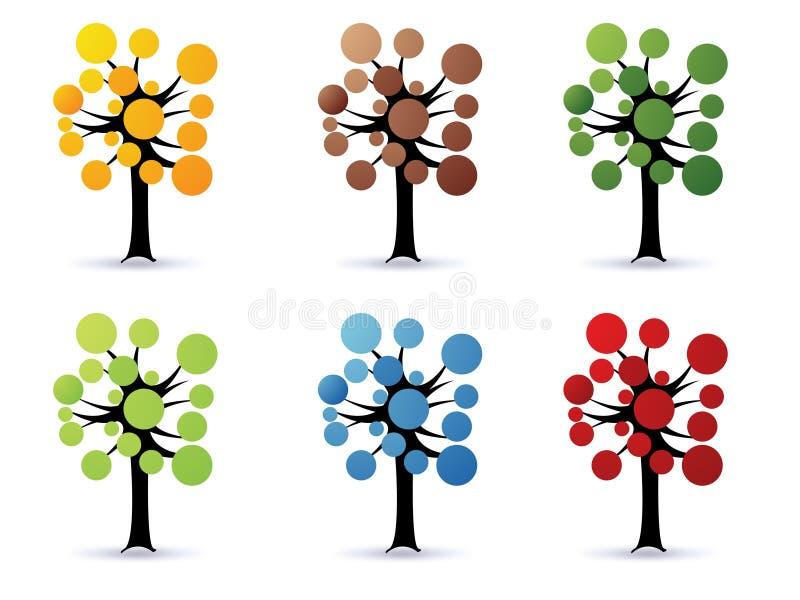 Arbres floraux - vecteur illustration libre de droits