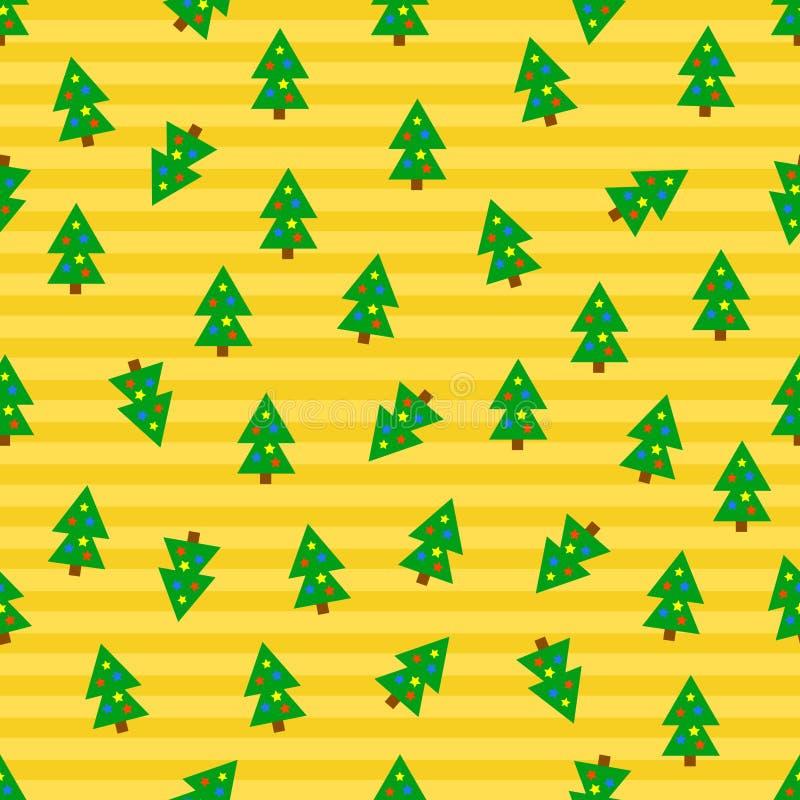arbres sans joint de Noël de fond illustration libre de droits