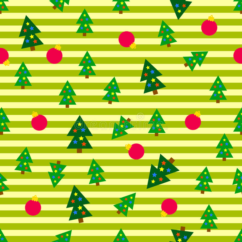 arbres sans joint de Noël de fond illustration de vecteur