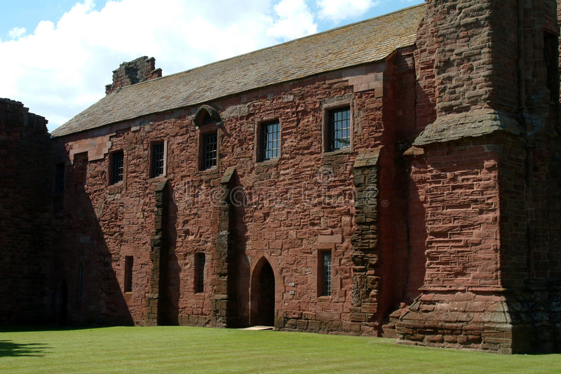 arbroath Шотландия аббатства стоковое фото rf
