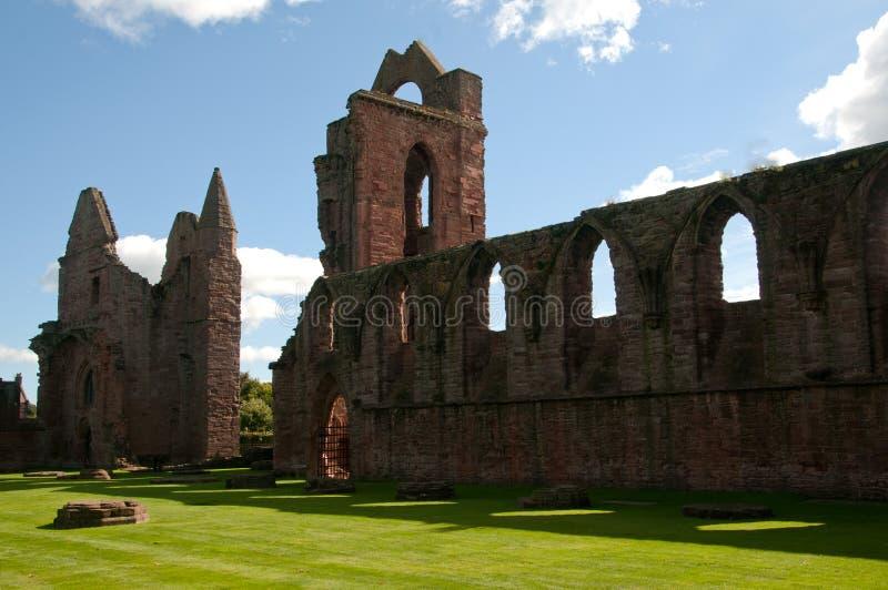 Arbroath Abbey the Nave. Arbroath Abbey, The Nave Ruins , Arbroath, Angus, Scotland, U.K This Ruins is in Arbroath Town stock photo