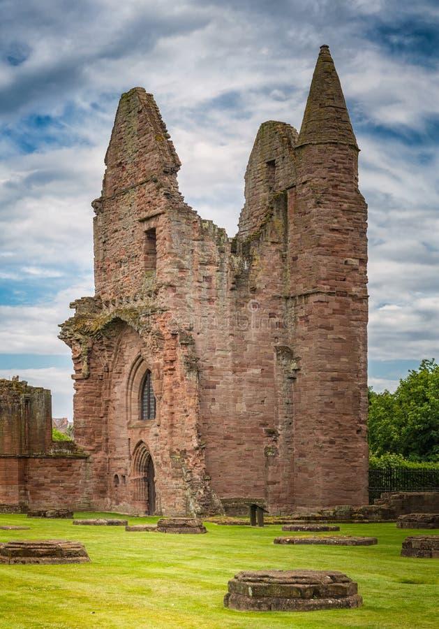 Arbroath Abbey Ruins Scotland imagens de stock royalty free