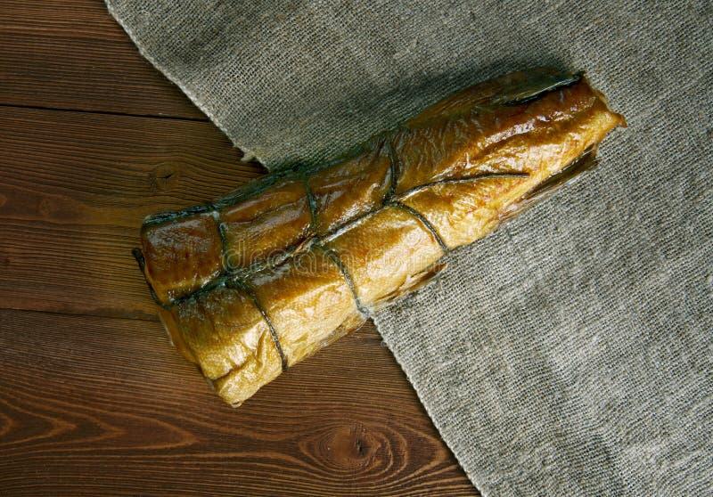 Arbroath Skottland smokiefisk arkivbild
