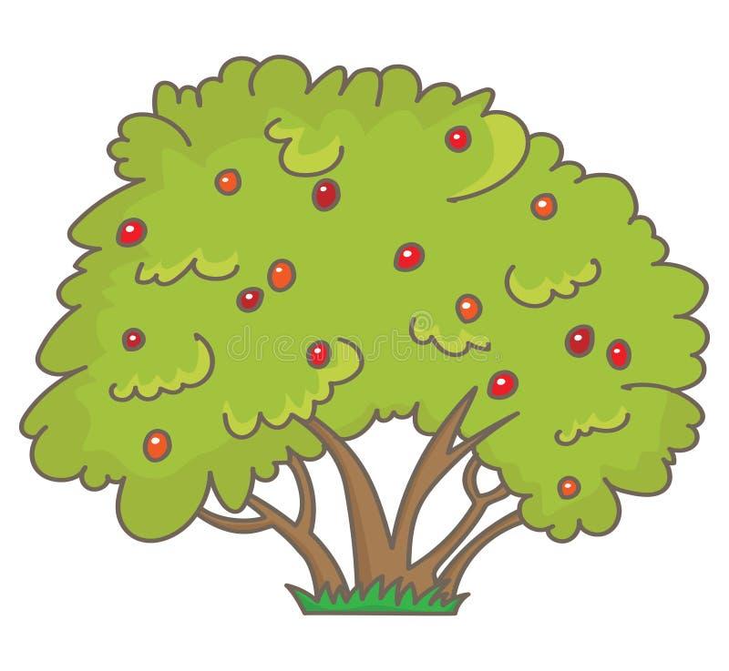 Arbuste avec des baies illustration libre de droits