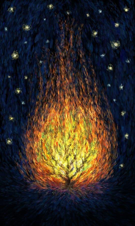 Arbusto ardente ilustração royalty free