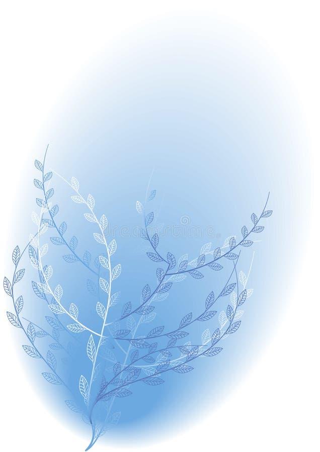 Arbusto azul de florescência ilustração do vetor
