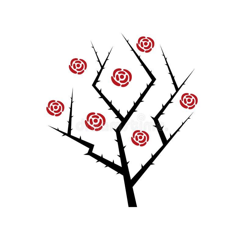 Arbusto color de rosa abstracto libre illustration