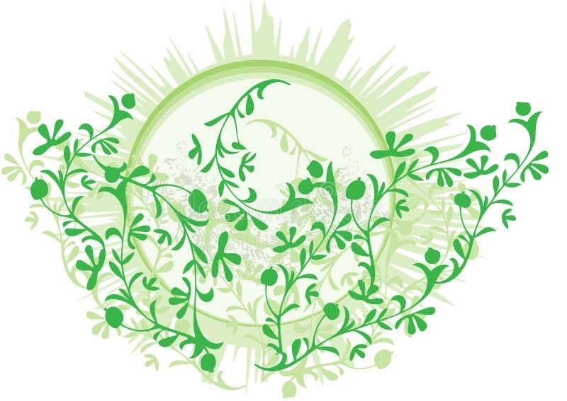Arbusto do chá verde ilustração stock