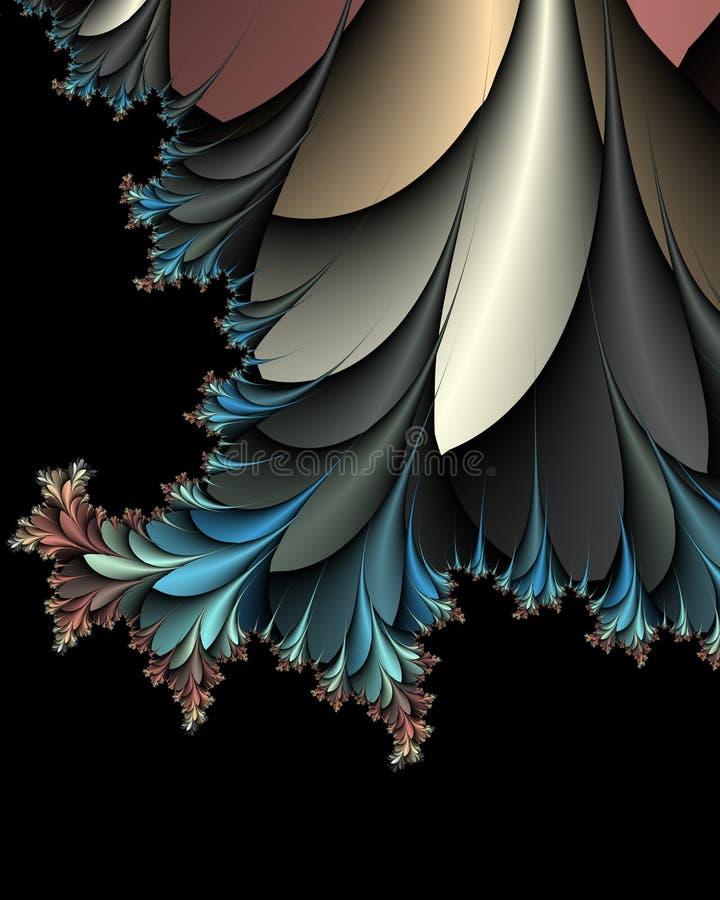 Arbusto espinhoso do fern ilustração do vetor