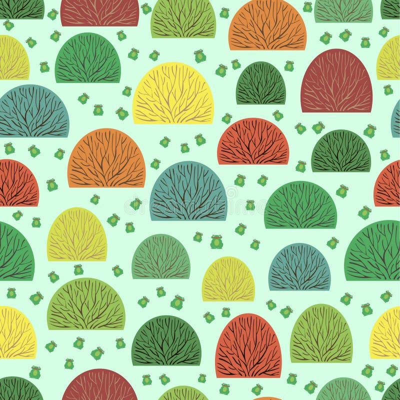 Arbusto y ranas inconsútiles libre illustration