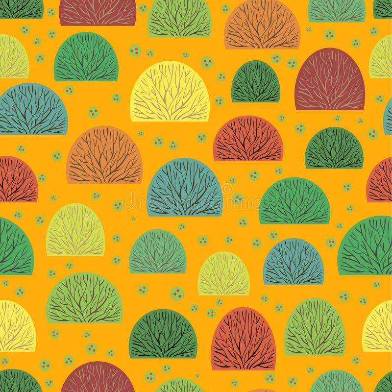 Arbustos y bayas inconsútiles ilustración del vector