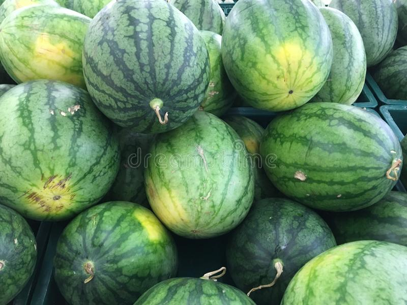 Arbuz owoc w rynku zdjęcia royalty free