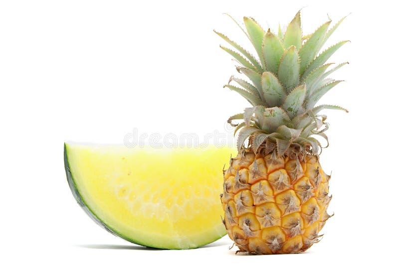 arbuza ananasowy kolor żółty obrazy stock