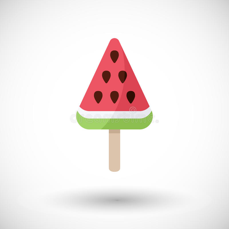 Arbuza popsicle mieszkania ikona ilustracji
