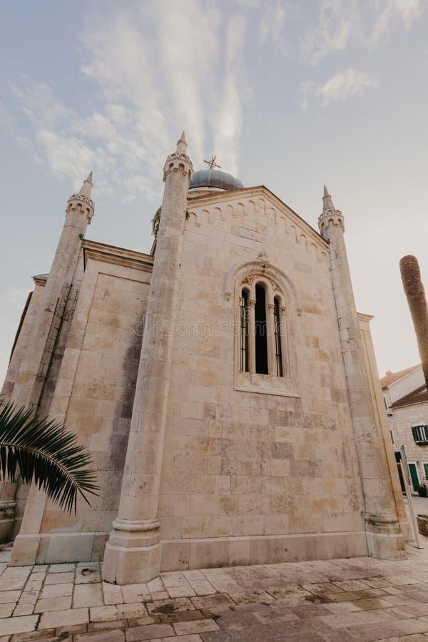 Arcángel Michael Church, Hegceg Novi, Montenegro - imagen del St imágenes de archivo libres de regalías