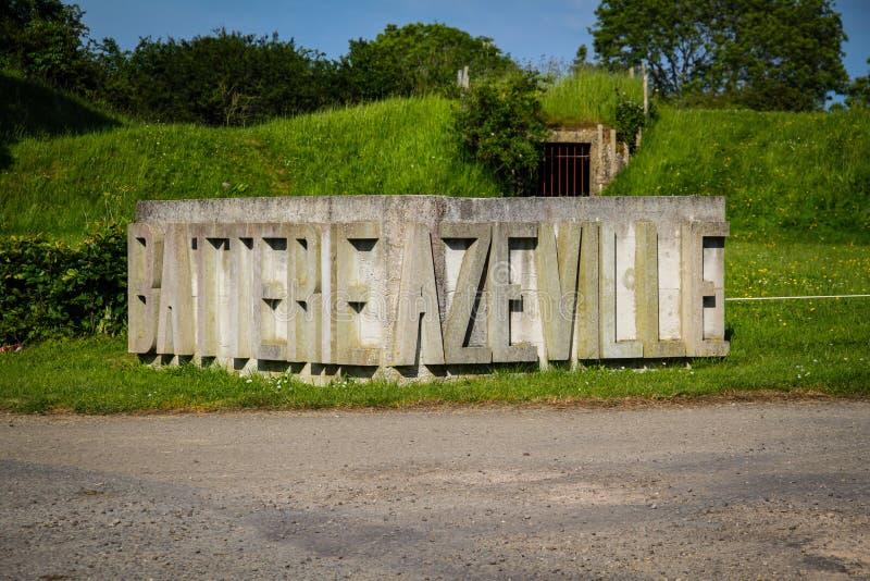 Arcón de la batería de Azeville Normadia, Francia Ubicación defensiva alemana en la Segunda Guerra Mundial imagen de archivo