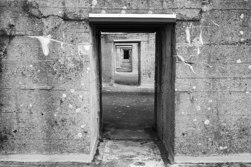Arcón submarina alemana vieja imágenes de archivo libres de regalías