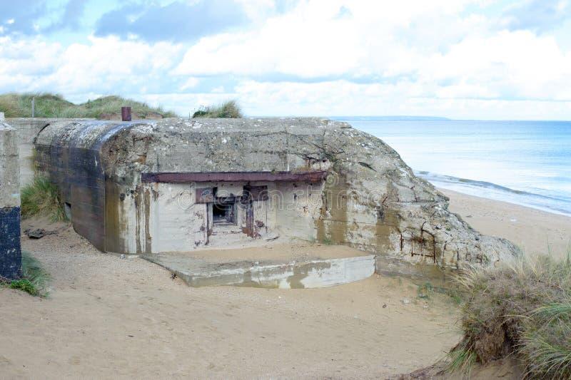 Arcón WW2, playa de Alemania de Utah foto de archivo