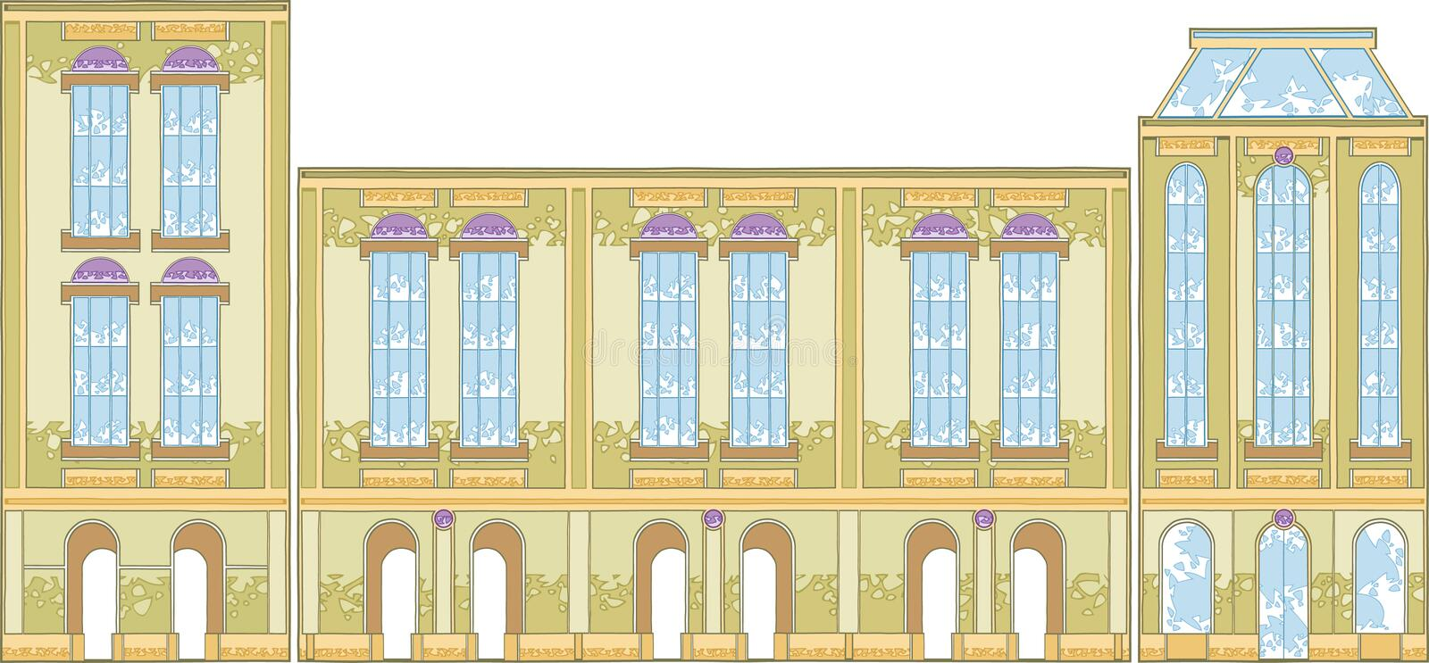 Download Arc Building stock vector. Illustration of fasade, house - 25808953