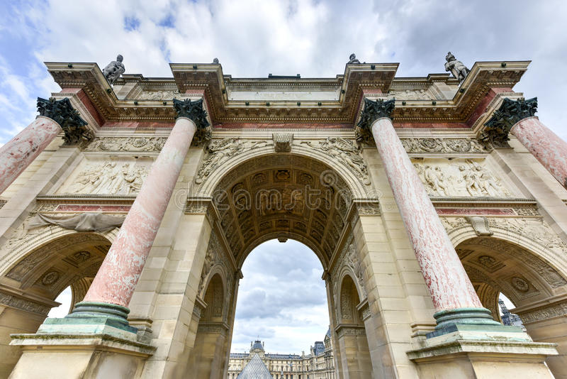 arc carrousel de du triomphe στοκ φωτογραφία
