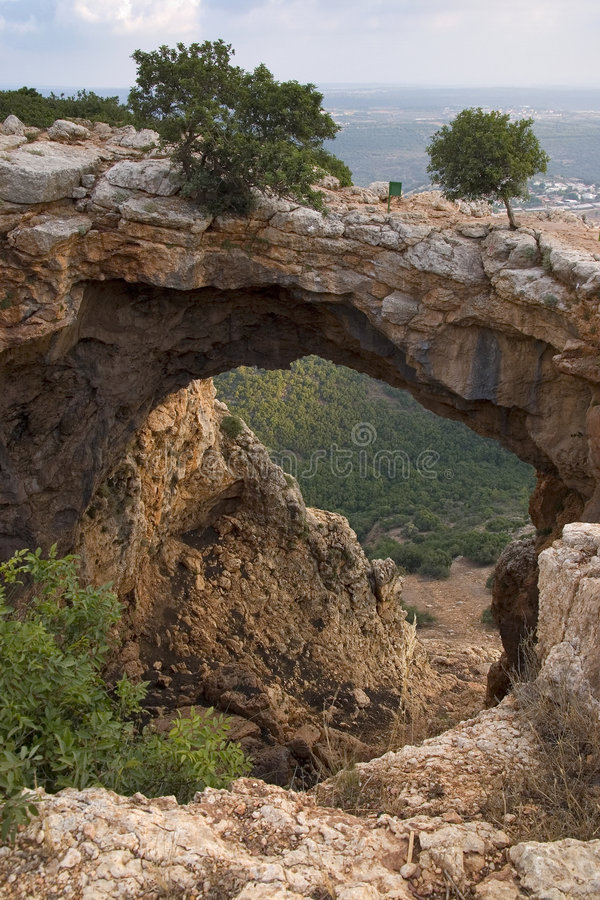 Arc cave. In the Galilee - Israel royalty free stock images