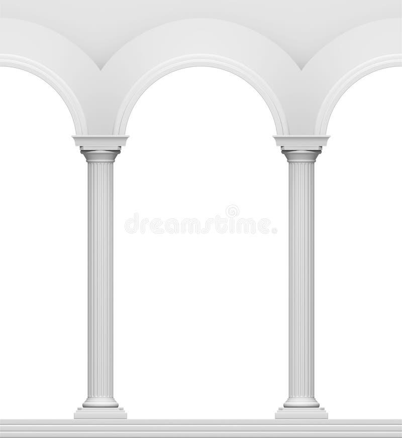 Arc with column stock illustration