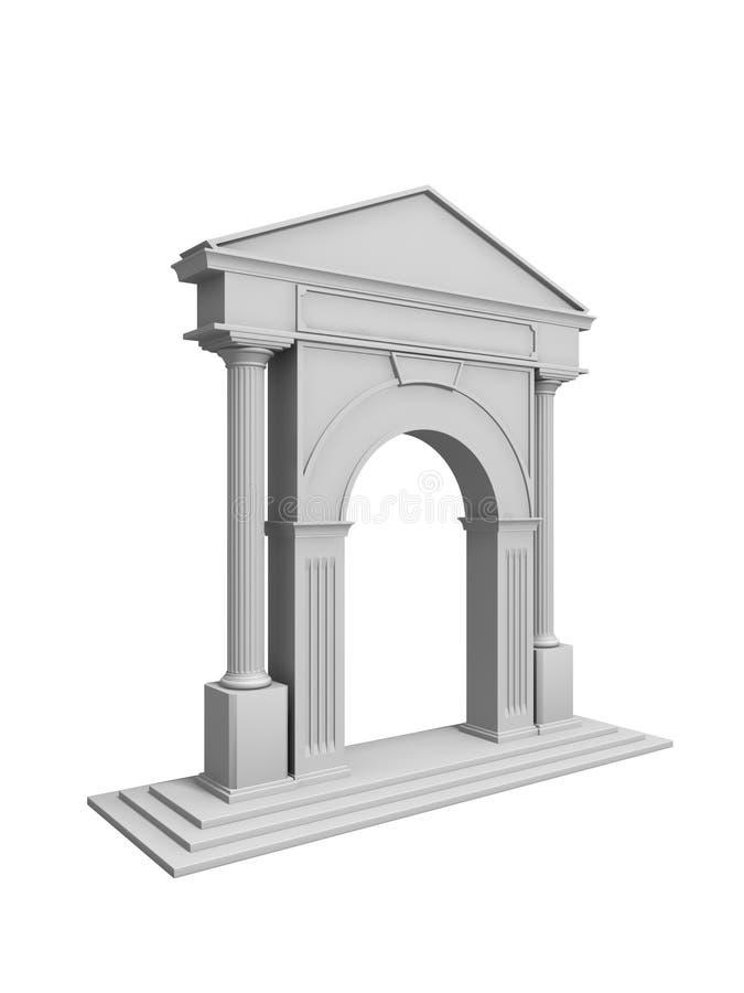 Arc with columns stock illustration
