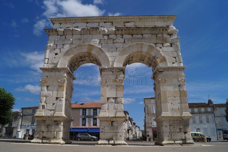 Arc de Germanicus en Saintes imagen de archivo