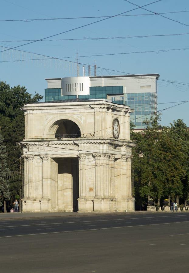 Arc de Moldau chisinau image stock