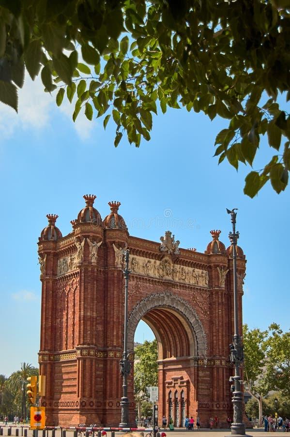 Arc de Triomf,凯旋门,巴塞罗那 免版税库存图片