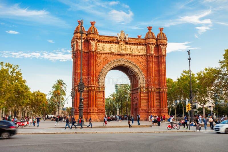 Arc DE Triomf in Barcelona stock foto's
