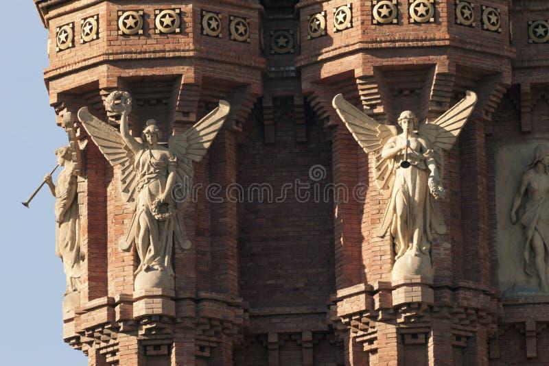 Arc de Triomf, Barcelona fotografía de archivo