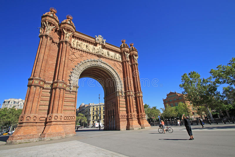 Arc de Triomf, Barcelona, Catalunya, Spain. August 2012. Arc de Triomf, Barcelona, Catalunya, Spain stock image