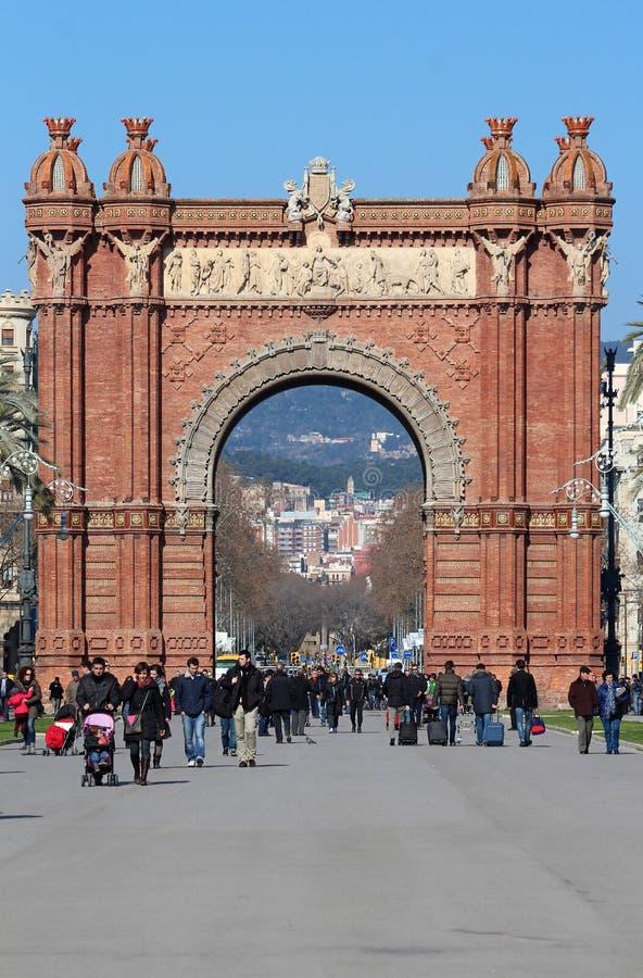 Arc de Triomf - Barcelona, España fotografía de archivo libre de regalías