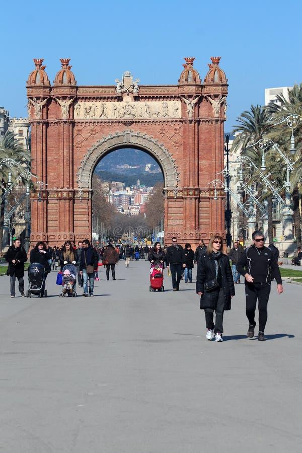 Arc de Triomf - Barcelona, Spain stock image