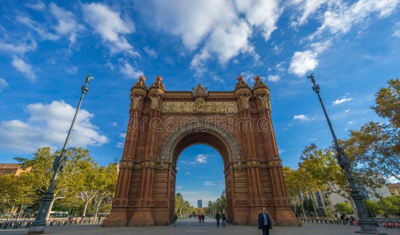 Arc de Triomf in Barcelona. Arc de Triomf - Triumph Arch - in Barcelona, Spain royalty free stock images