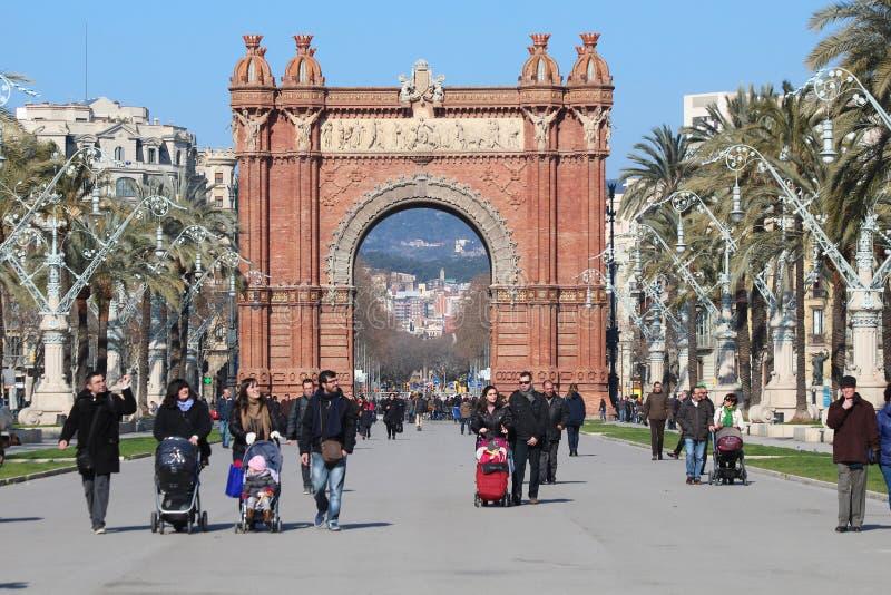 Arc de Triomf - Barcelona stock photo