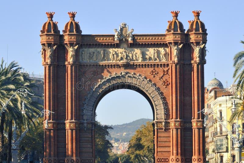 Arc de Triomf, Barcelone images libres de droits