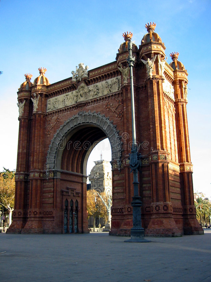 Arc de Triomf, Barcelone photo libre de droits