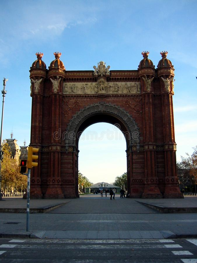 Arc de Triomf, Barcelone images libres de droits