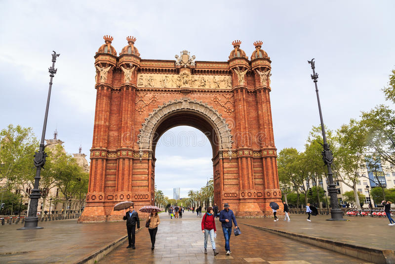 Arc de Triomf, Barcelone photos stock