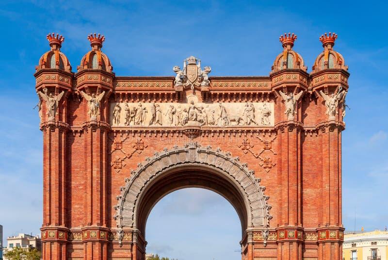 Arc de Triomf, Barcelone est une voûte triomphale en Catalogne, Espagne photo stock
