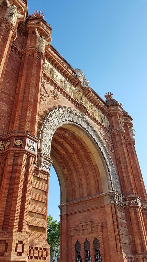 Arc de Triomf en Barcelona, Cataluña, España imagen de archivo