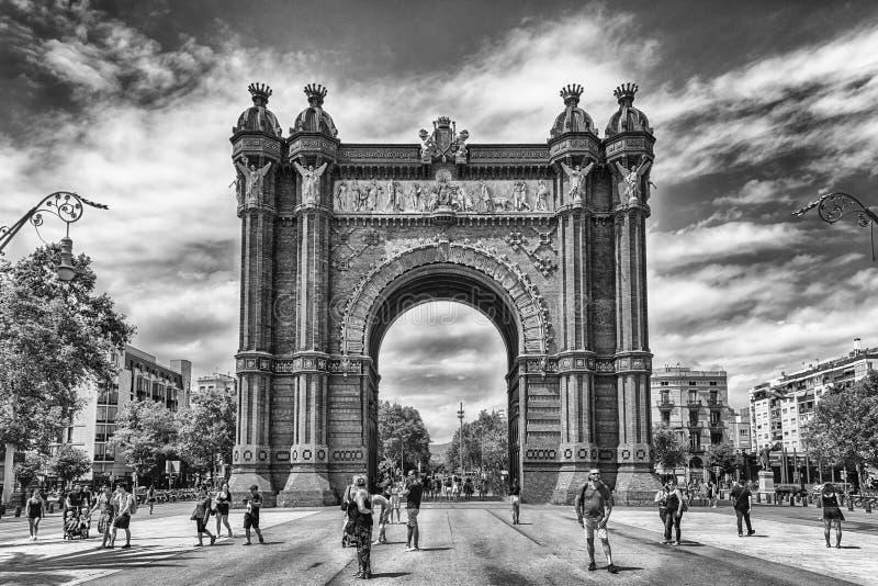 Arc de Triomf, arc triomphal iconique à Barcelone, Catalogne, station thermale photos libres de droits