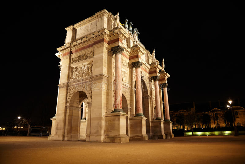 Arc de Triomphe à la place du Carrousel photographie stock libre de droits