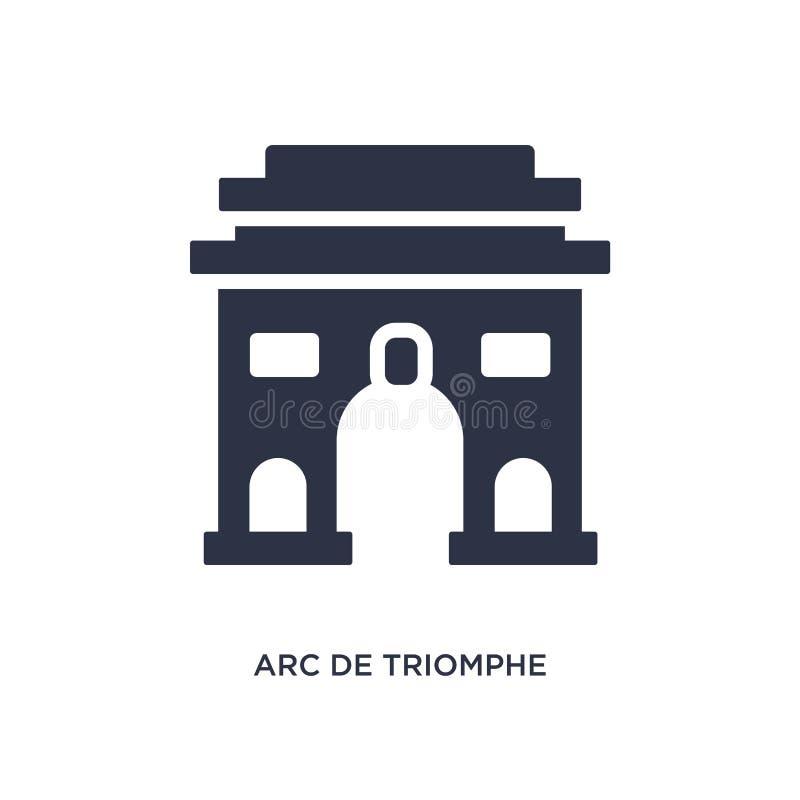 arc de triomphe εικονίδιο στο άσπρο υπόβαθρο Απλή απεικόνιση στοιχείων από την έννοια κτηρίων απεικόνιση αποθεμάτων