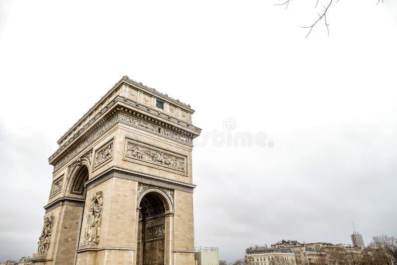Arc de Triomphe, εικόνα φωτογραφιών μια όμορφη πανοραμική άποψη της μητροπολιτικής πόλης του Παρισιού στοκ φωτογραφίες