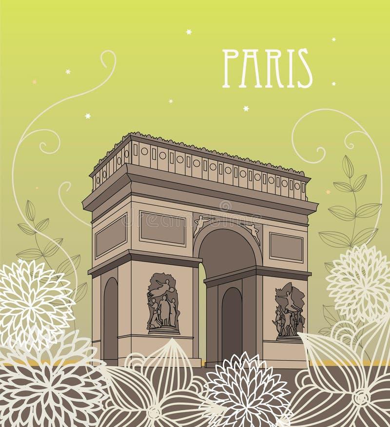 Download Arc de Triomphe stock illustration. Illustration of street - 14274116